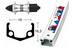 Rigida baghjul hjul 28 x 1.75, RM-40, 7-trins Quick release, 36h hvid/sort